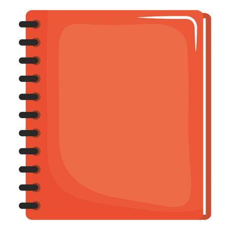 notebook school supply education icon