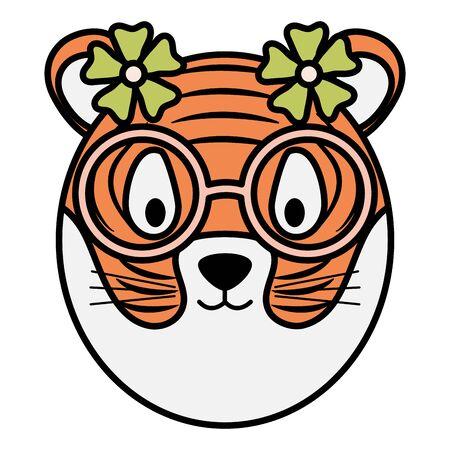 cute female tiger childish character Foto de archivo - 129230320