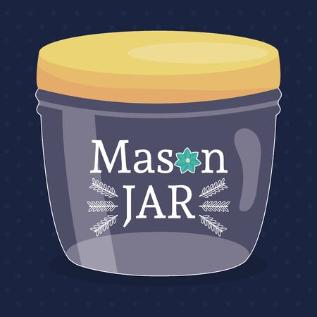 mason jar glass with lid Stock fotó - 134306588