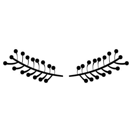 wreath leafs frame boho style Stockfoto - 129232842