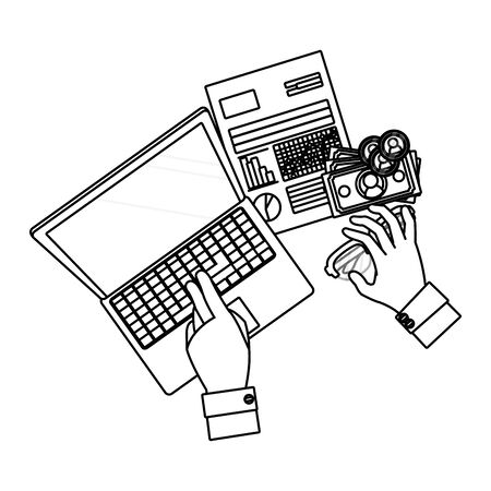 saving money finance elements cartoon vector illustration graphic design Stock Illustratie