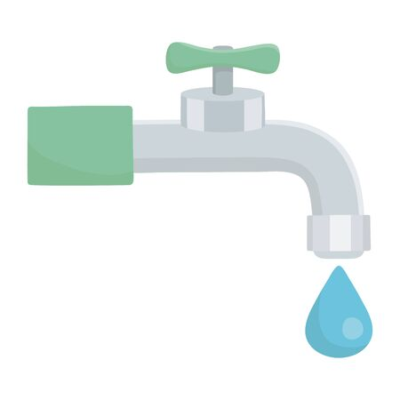 Water tap with drop design