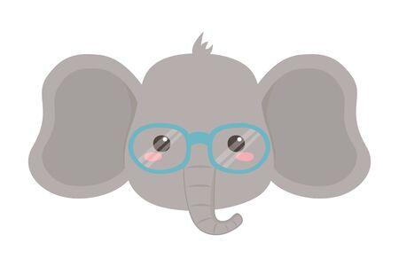 Elephant cartoon design vector illustration