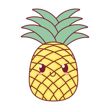 delicious tasty pineapple cartoon