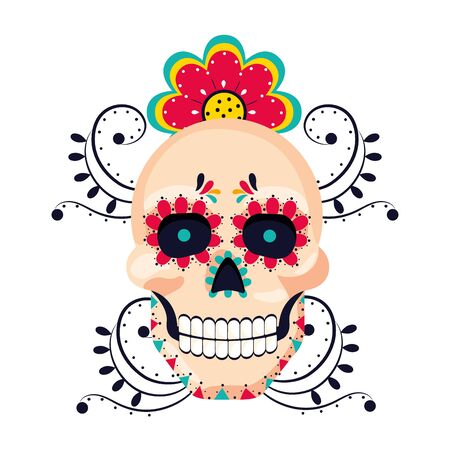mexican culture mexico skull cartoon Фото со стока - 129233143
