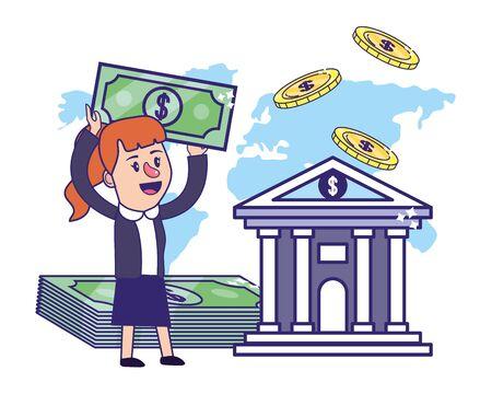 Businesswoman banking financial planning