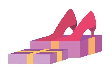 Heels inside gift  design Illustration
