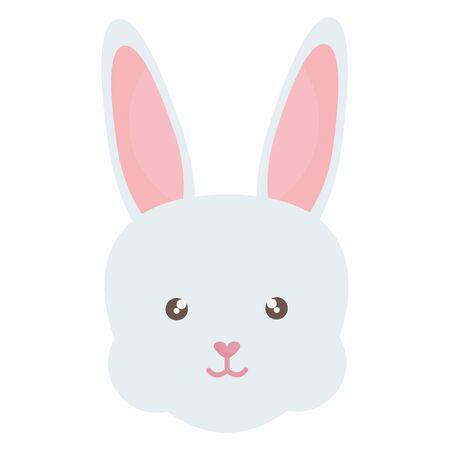cute rabbit head character vector illustration design Ilustracja