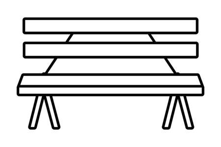 Wooden park bench craft outdoors equipment useful isolated vector illustration graphic design Ilustração