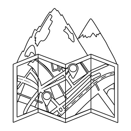 outdoor camping cartoon Standard-Bild - 129233416