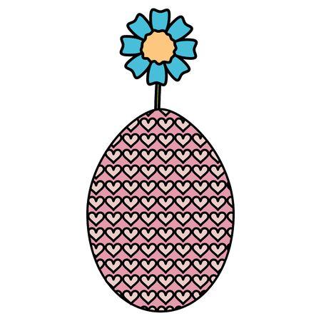 egg painter with flower easter celebration