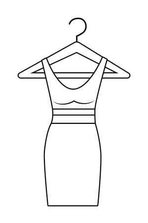 Isolated dress design