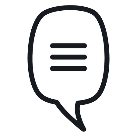 speech bubble message monochrome icon