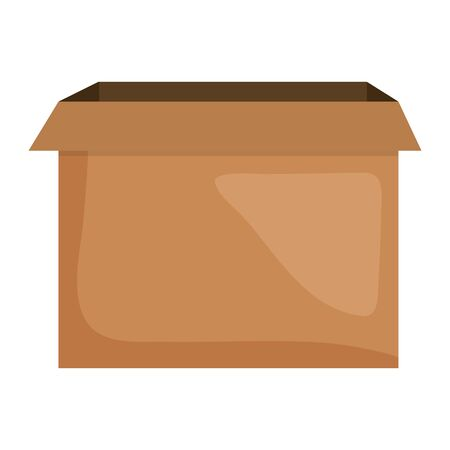 carton box packing icon square frame and birthday elements vector illustration