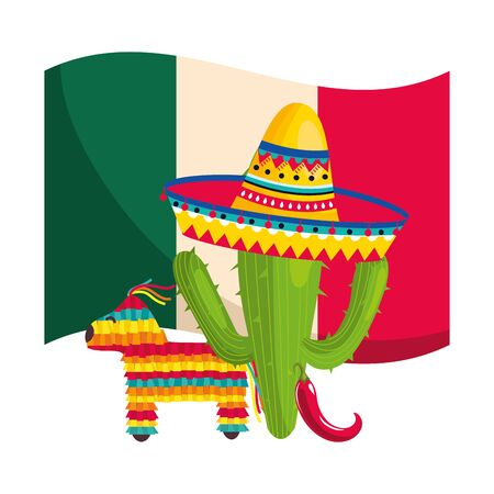 mexican culture cartoon Фото со стока - 129233485