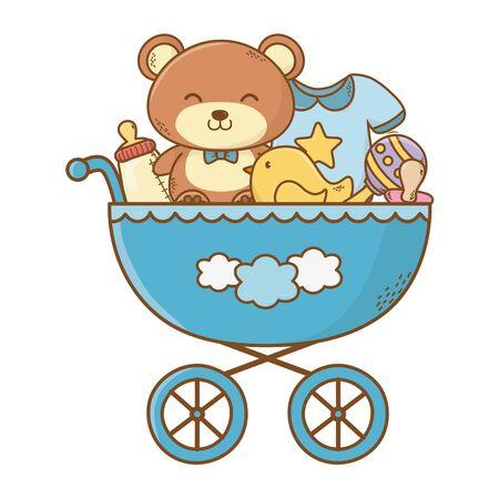 cute baby shower cartoon Foto de archivo - 129233487