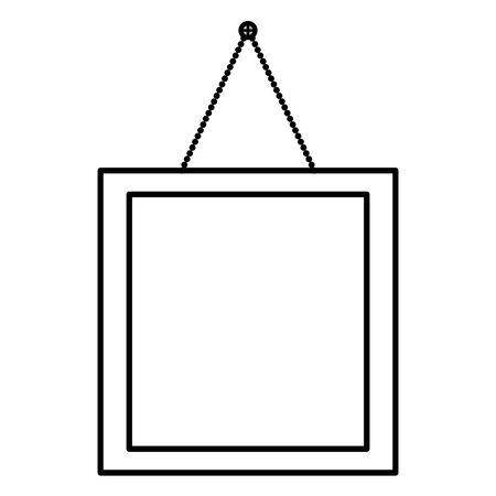 square picture hanging decoration