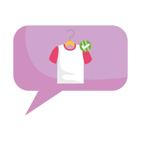 T shirt inside bubble design vector illustration Ilustração