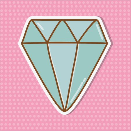 diamond icon cartoon