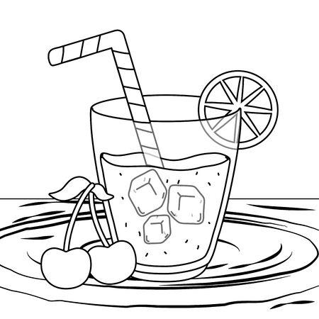 delicious healthy drink cartoon Stock Illustratie