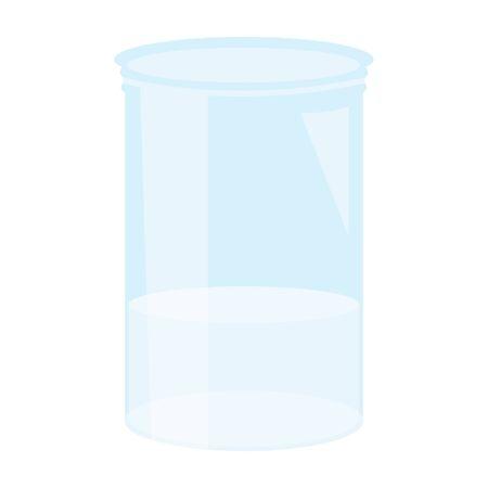 jar glass with liquid Иллюстрация