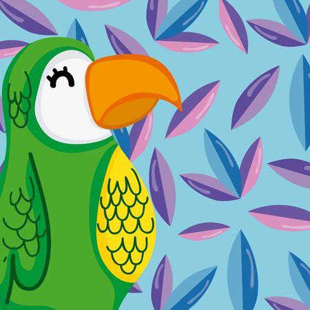 Exotic birds cartoon