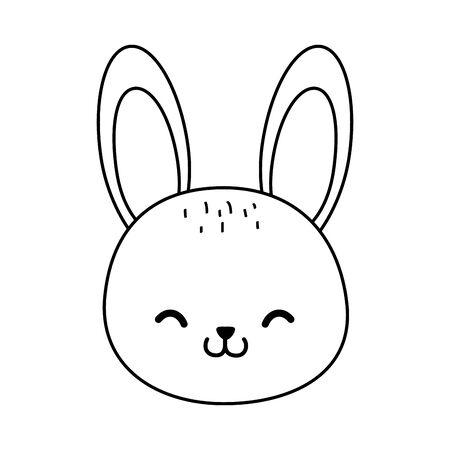cute rabbit woodland character Foto de archivo - 129372769