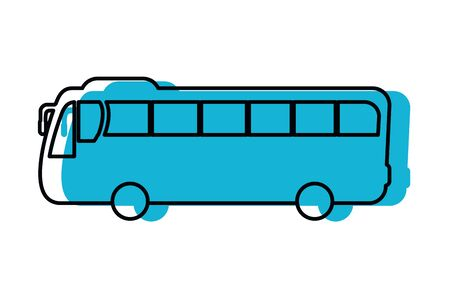 transportation concept bus cartoon vector illustration graphic design