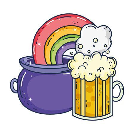 jar beer and rainbow saint patrick day