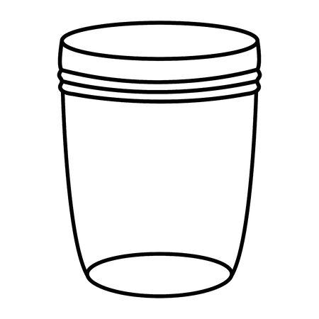 mason jar glass with lid vector illustration design 版權商用圖片 - 129251668