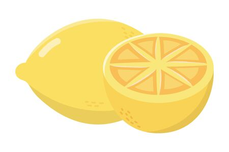 delicious tasty lemon cartoon Stok Fotoğraf - 129373464