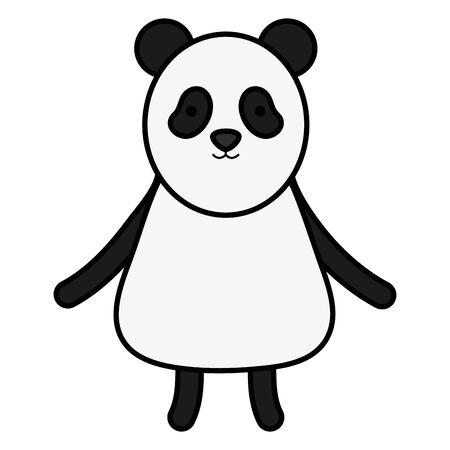 cute bear panda childish character