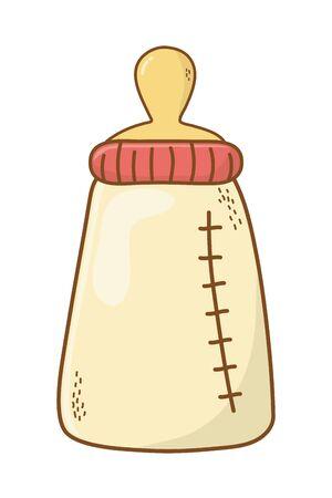 cute baby bottle cartoon Иллюстрация