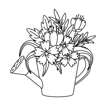 floral nature flowers cartoon Reklamní fotografie - 129375981