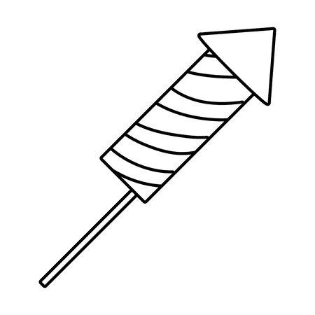 firework rocket cartoon Ilustrace