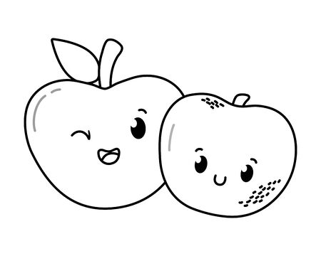 delicious tasty fruit cartoon