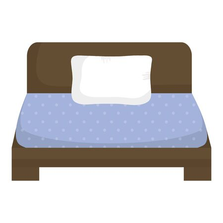 bed of wooden furniture icon