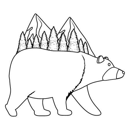 wild bear cartoon