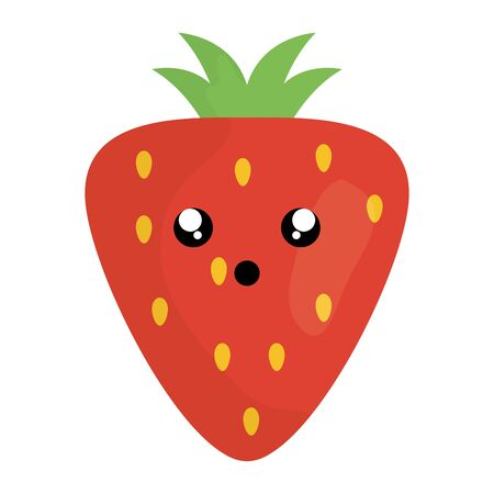 delicious strawberry fruit character