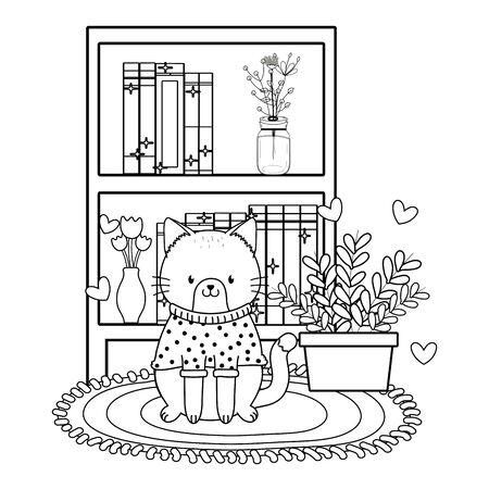 cute little animal cartoon Banco de Imagens - 129376576