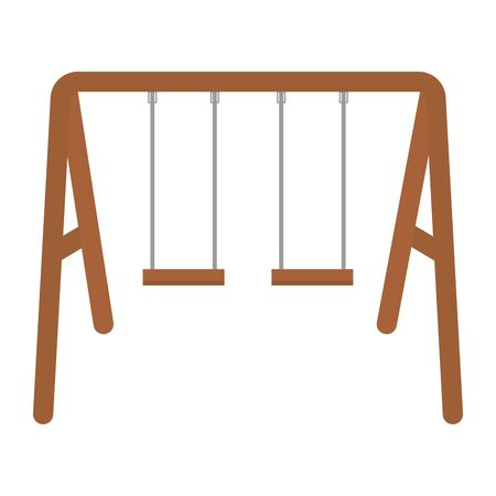 swing wooden isolated icon 일러스트