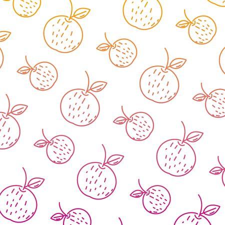 degraded line delicious orange fresh fruit background