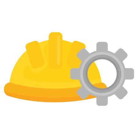 builder helmet with gear