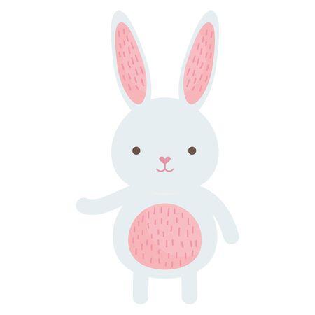 cute rabbit character icon