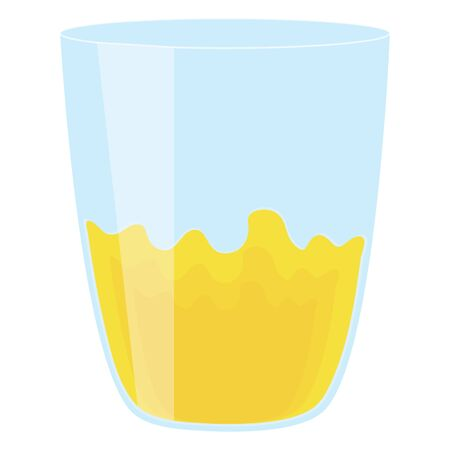 glass with juice fruit Ilustracja