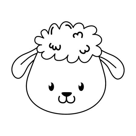 cute sheep woodland character Foto de archivo - 129463024