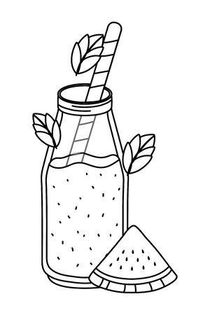 tasty refresh juice cartoon Banque d'images - 129470695
