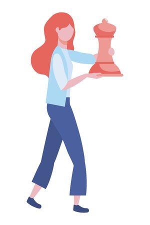 Businesswoman avatar cartoon design vector illustration Ilustrace