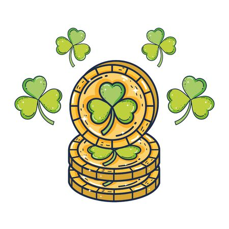 clover coins saint patrick day  イラスト・ベクター素材