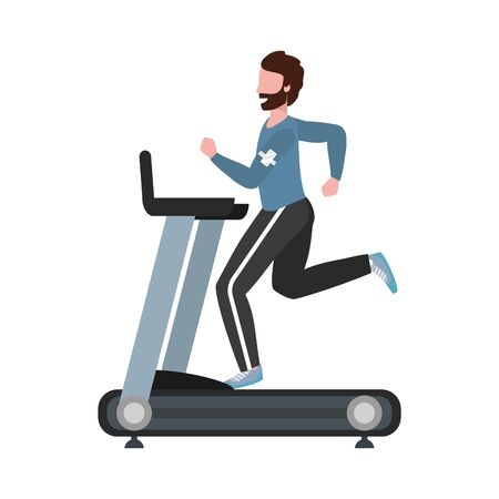 fitness exercise cartoon Illustration